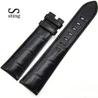 Стинг ремешок из крокодильей кожи ремешок заменить Для мужчин t Универсальные часы Для мужчин Для женщин наручный ремень 22 мм принять заказ
