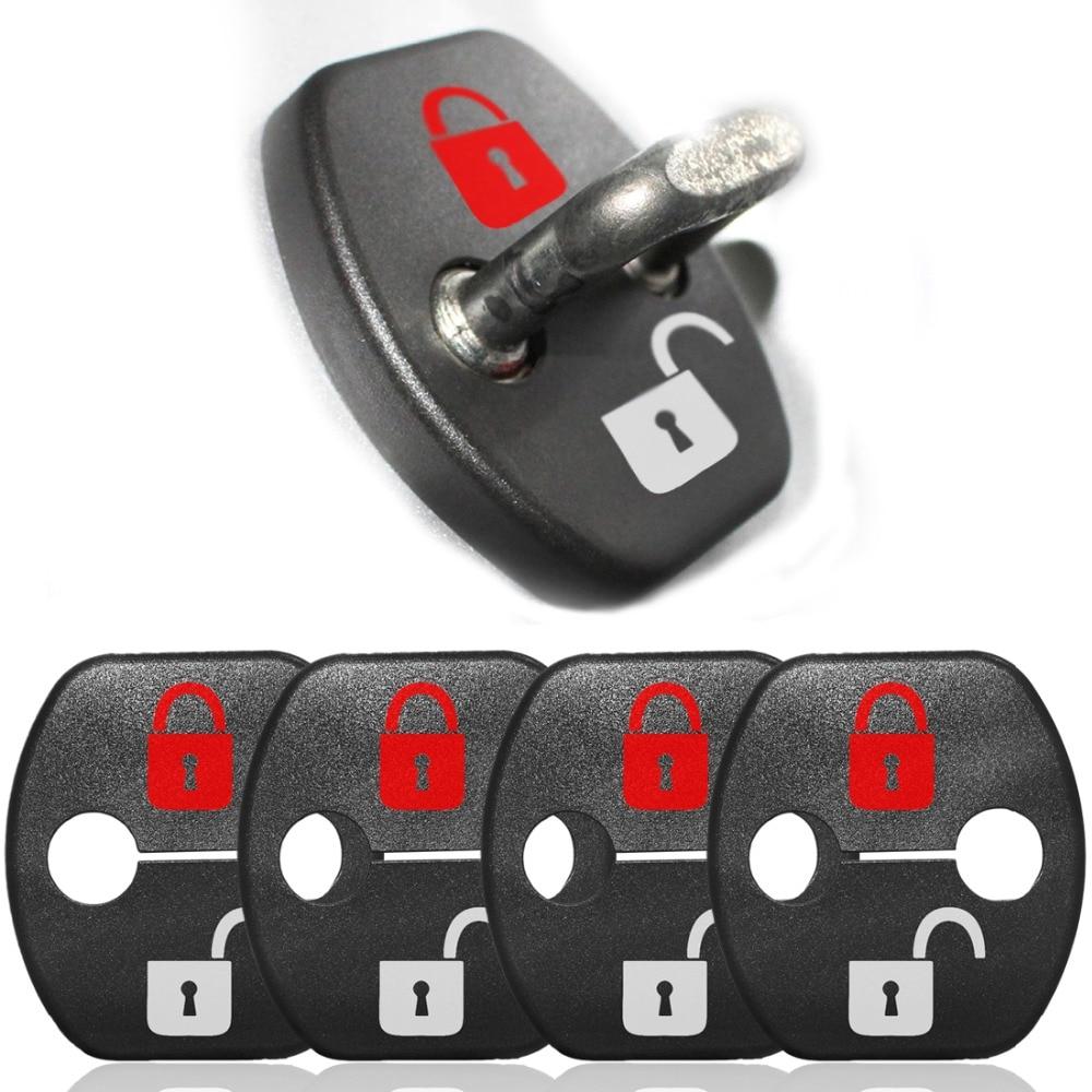 ajuste interior y exterior anticorrosiva 4 unidades por juego Muchkey Tapa protectora para la cerradura de la puerta del coche