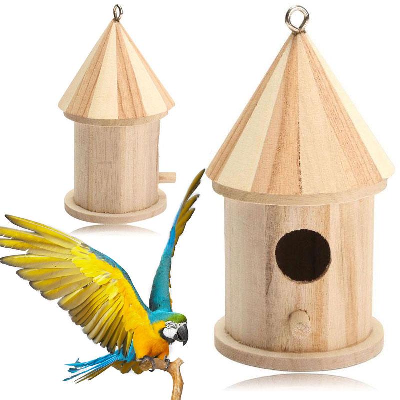 Փայտե պարտեզի թռչունների վանդակի - Ապրանքներ կենդանիների համար - Լուսանկար 1