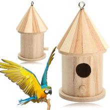 Wooden Garden Bird Cage Wood Nesting Box House Nest Supply New Accessories