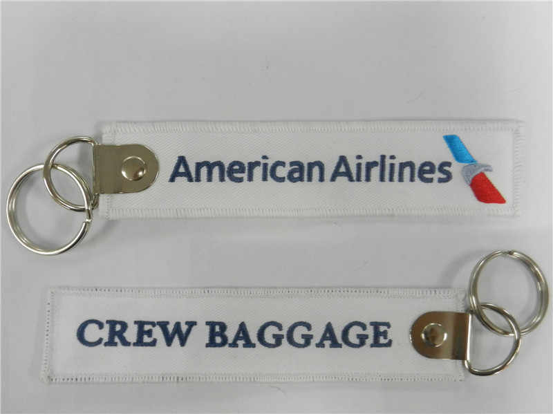 Amerikaanse Airlines Crew Bagage Kofferlabels