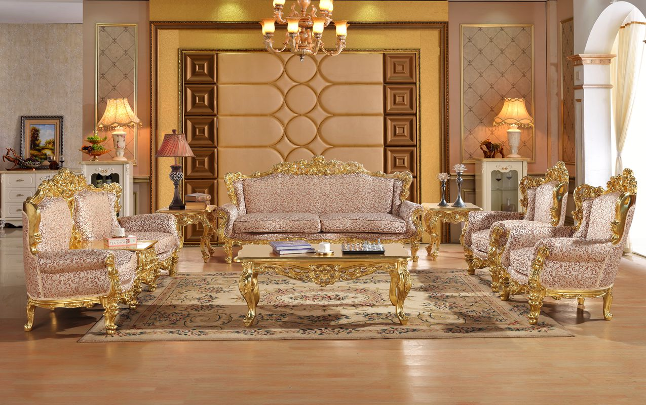 Us 4289 0 Royal Antique Gold Gliding Carved Sofa Set Living Room Sectional Baroque Sofa In Living Room Sofas From Furniture On Aliexpress