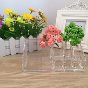 Best acrylic makeup organizer Nail Polish Crystal Storge Box Plastic Cosmetic Holder Plastic Box Sundries Makeup Organizer