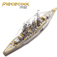 Piececool 3D Metal Puzzle Figure Toy NAGATO CLASS BATTLESHIP models Educational Models Gift Jigsaw Toys For Children