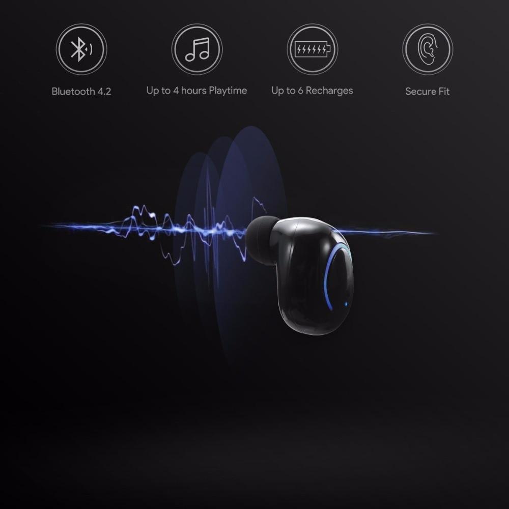 Sago 4.2V Wireless Earbuds Ture Wireless Bluetooth Earphones Sport Earphone with Microphone Earphone for iphone 6/7/8 plus