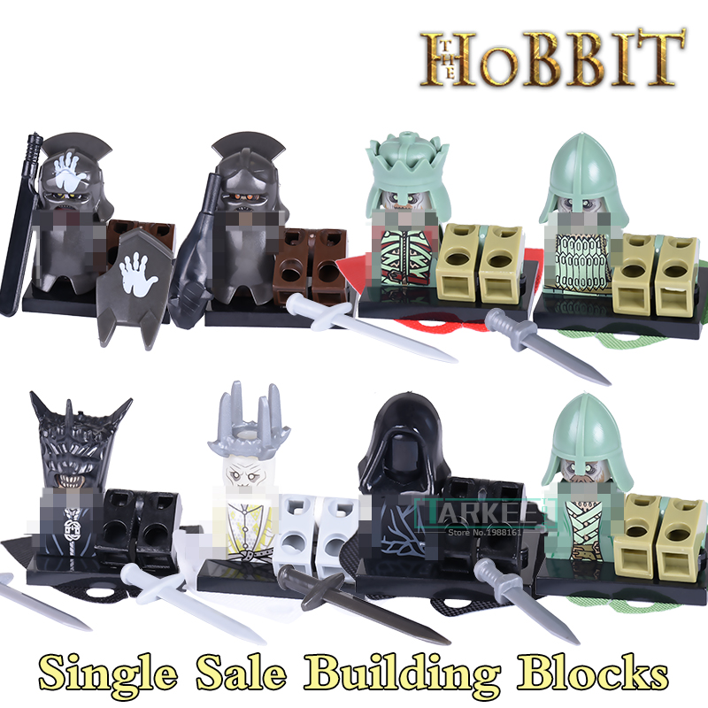 The Hobbit Lord of the Rings diy figures Uruk Hai RingWraith King of the Dead Mordor Orc Building Blocks Kids DIY Toys Hobbies