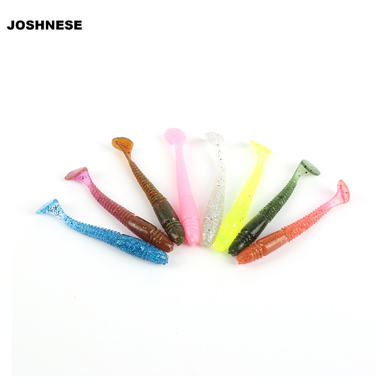 JOSHNESE 16Pcs/Lot 5cm/1.3g Lures Soft Bait Worms fishing lure with salt smell Hot Fishing Takcle Grub Artificial Lures joshnese 16pcs lot 5cm 1 3g lures soft bait worms fishing lure with salt smell hot fishing takcle grub artificial lures