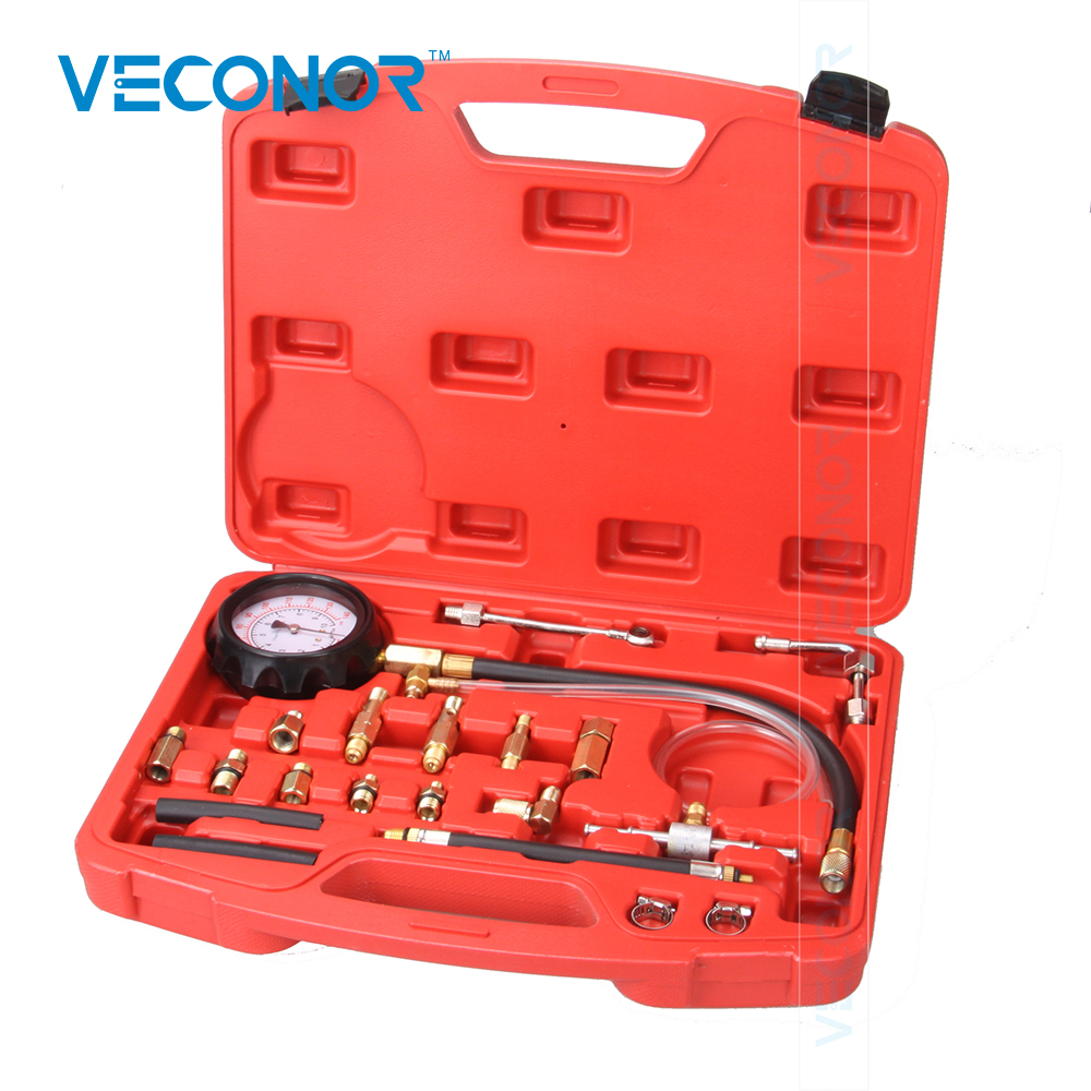 VECONOR TU-114 Fuel Pressure Tester Pressure Gauge Auto Diagnostics Tools Set