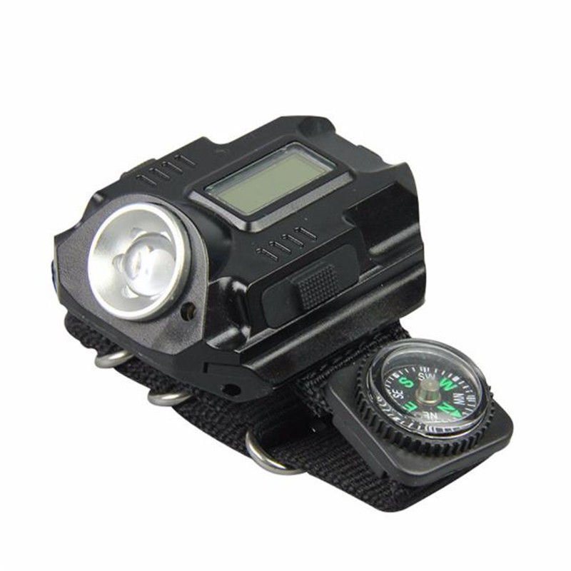 Night Tactical Rechargeable LED Flashlight Wrist Light Lamp Waterproof Cycling Hiking Camping Bike Accessories Portable M20
