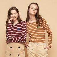 Toyouth весенние женские базовые полосатые футболки с вышитыми буквами, женская футболка, Повседневная футболка с круглым вырезом, модная футб...