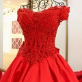 LS2181 vestidos longos para festa de casamento de cetim vermelho vestido de baile querida appliqued lace beading vestidos de noite elegantes