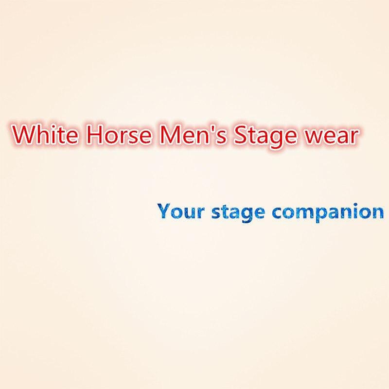 Ilgas juodas ir auksinis mandarinų apykaklės vyriškas kostiumas - Vyriški drabužiai - Nuotrauka 6