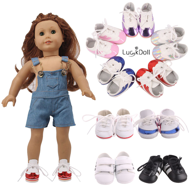 Luster&Leather Sports Shoes Sneakers Fit 18 Inch American&43 CM Baby Doll Clothes Accessories,Girl'Toys,Generation,Birthday Gift
