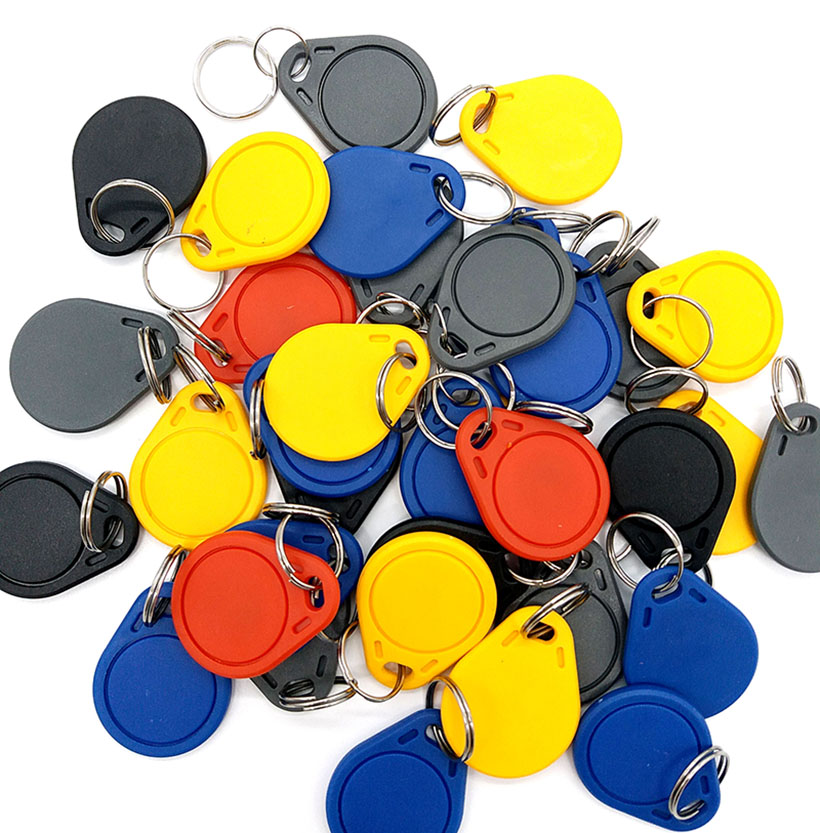 50pcs UID RFID Tag Keyfob For Mif 1k S50 13.56MHz Writable Mif 0 Zero HF ISO14443A Used To Copy Cards