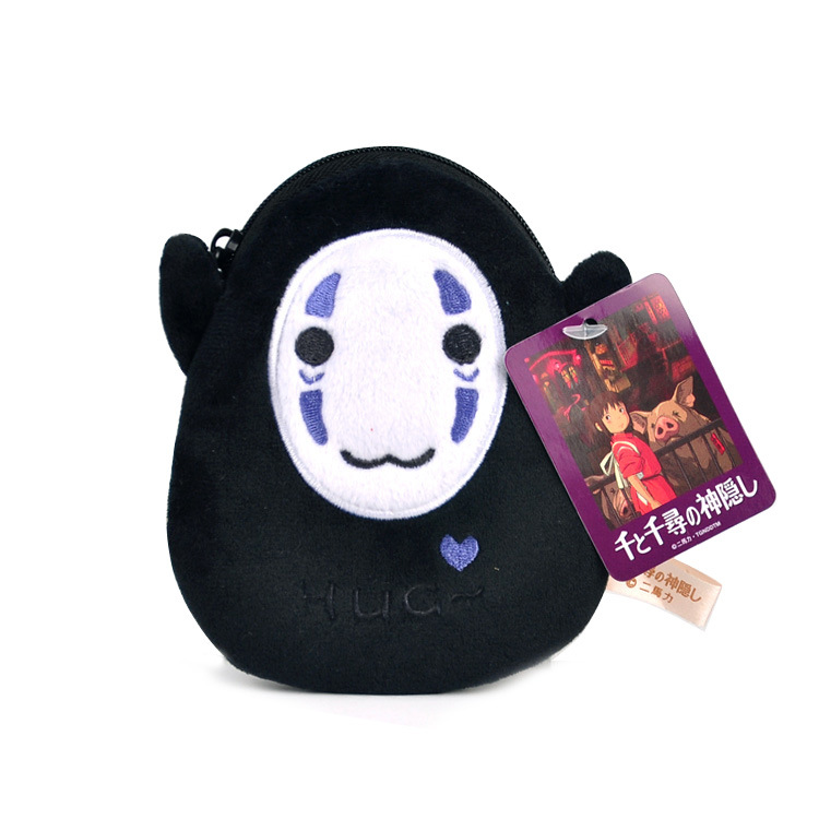 Japan Anime Spirited Away No Face Man Totoro Plush Purses Plush Bag Wallet Cartoon Mini Pocket Purse Bag Bus Card Bag Gift New