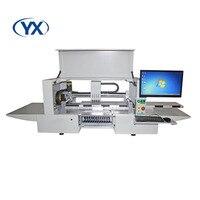 Высокая точность PCB Палочки и место машина светодиодный монтажа машины с 5CCD Камера и 12 кормушки для электроники производственных линий