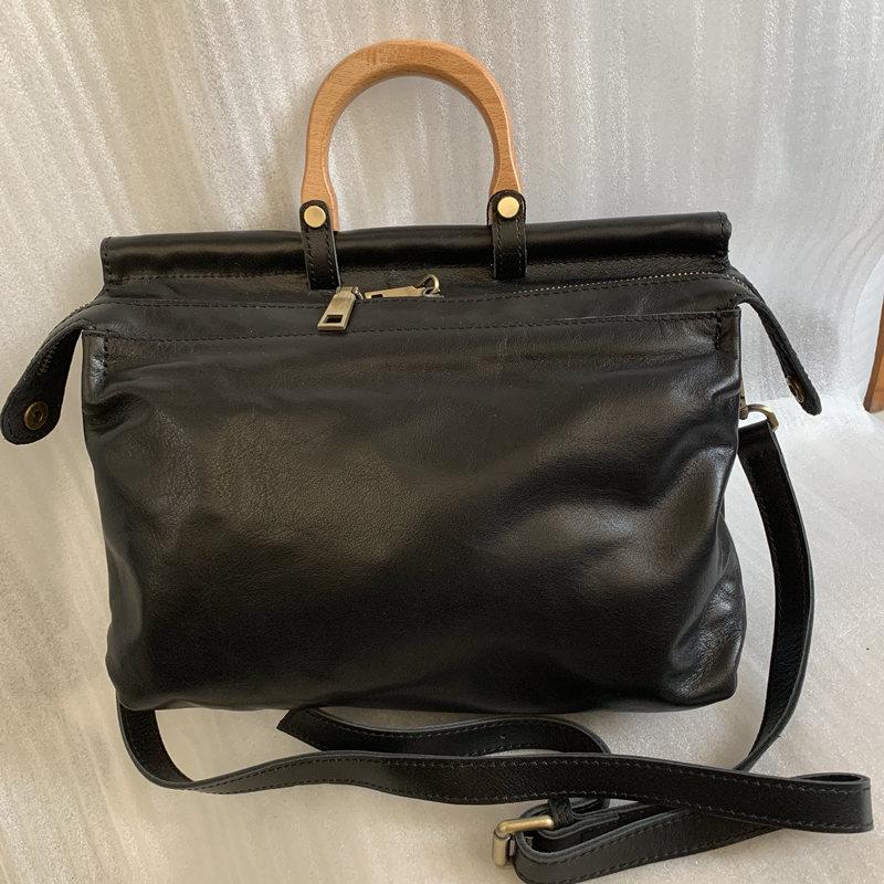 Brand Designer Handbags Women Genuine Leather Portable Shoulder Bag Office Satchel Tote High Quality Messenger Bag Female