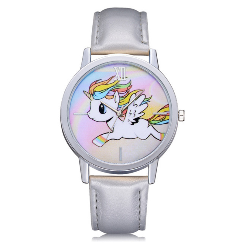 Watches Saati-Clock Unicorn Jelly Girl Kids Cartoon Childrens Quartz Students Relogio