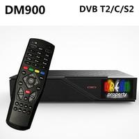 DM900 HD DVB-S2/C/T2 TV Turner dm 900 UHD 4 K E2 Linux Reseptör 2160 p PVR Uydu Alıcısı 2 GB RAM 4 GB ROM USB 3.0 Takım Üst kutu