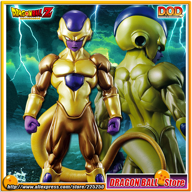 Japan Anime Dragon Ball Z Original MegaHouse MH Dimension of DRAGONBALL / D.O.D Action Complete Figure - Golden Freeza /Frieza