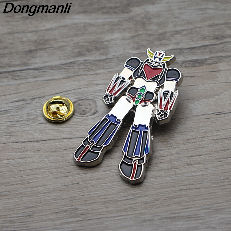 Jewelry & Accessories Friendly L3001 Ufo Robot Grendizer Enamel Pin Brooches Cartoon Creative Metal Brooch Pins Denim Hat Badge Collar Jewelry Complete Range Of Articles