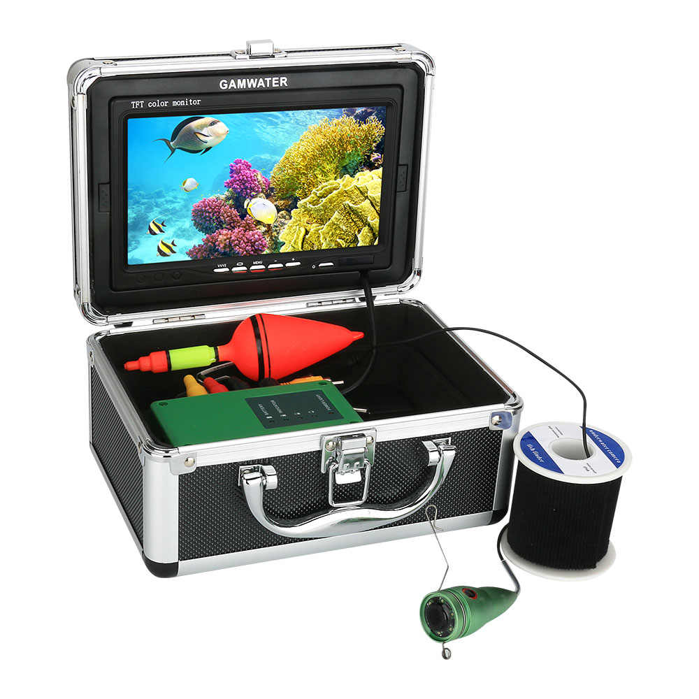 GAMWATER Pesca Subacquea Video Camera Kit 1000tvl 6W IR LED Bianco LED con 7 Pollici Monitor a Colori 10M 15M 20M 30M
