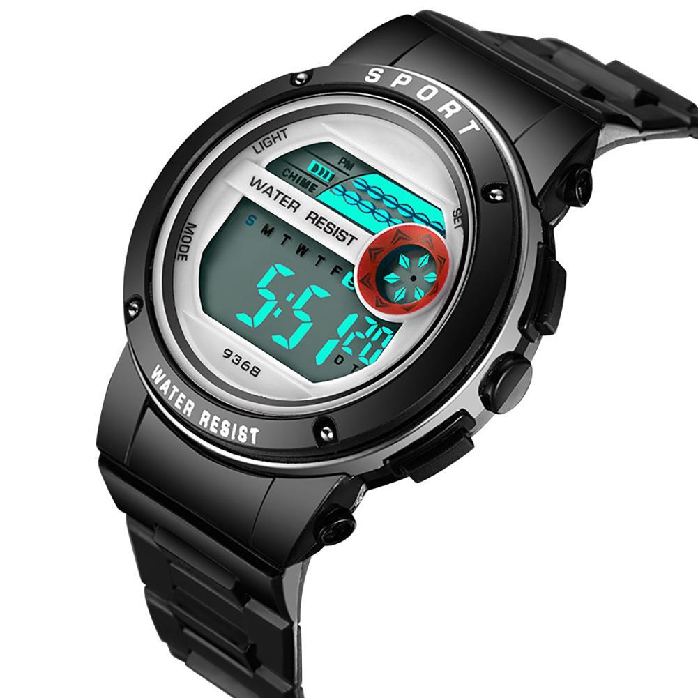 Fashion Boy Girl Kids Alarm Hourly Chime Backlight Stopwatch Digital Wrist Watch