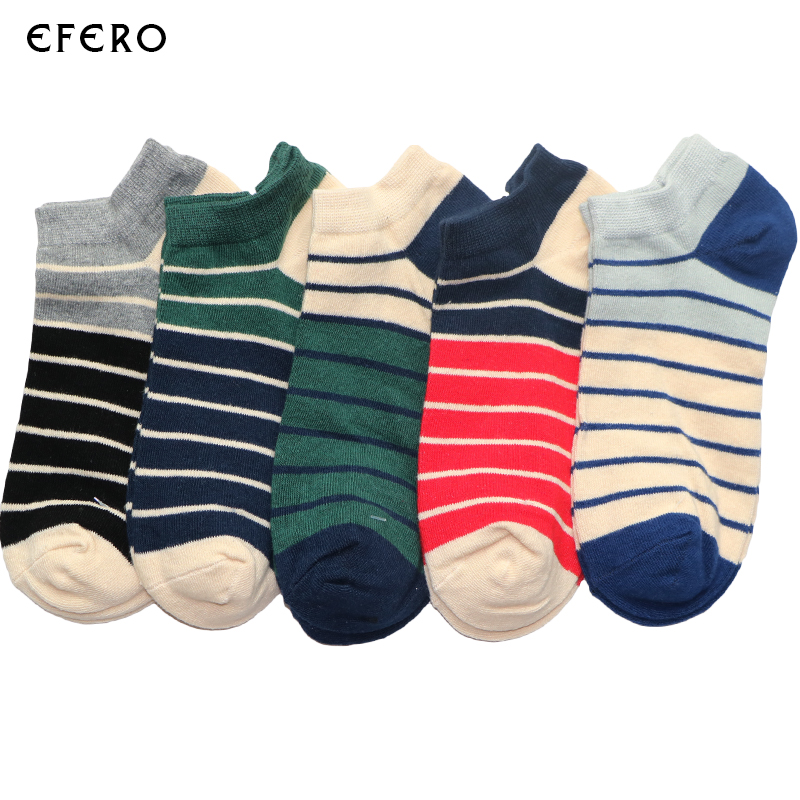 3Pair Striped Art Socks Meias Homens Summer Cotton Blend Short Sock Funny Ankle Couples Socks Boat Men No Show Socks Invisibles