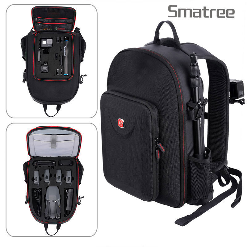 Smatree Hard Case Water-resistant Backpack for DJI Mavic Pro/Hero Session/Hero 7/6/5/4/3/Gopro Hero 2018/Tablet/laptop let PCSmatree Hard Case Water-resistant Backpack for DJI Mavic Pro/Hero Session/Hero 7/6/5/4/3/Gopro Hero 2018/Tablet/laptop let PC