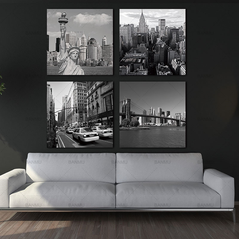 Canvas Painting Wall Art Picture 4 Panel