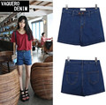 2015 New Fashion women's jeans Summer High Waist Stretch Denim Shorts American Apparel Casual women Jeans Shorts 319 Size S-XL
