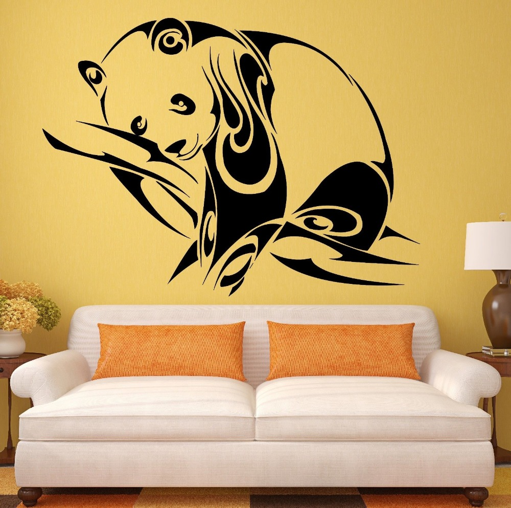 Panda Wall Stickers Animal Kids Room Nursery Tribal Vinyl Decal-in ...