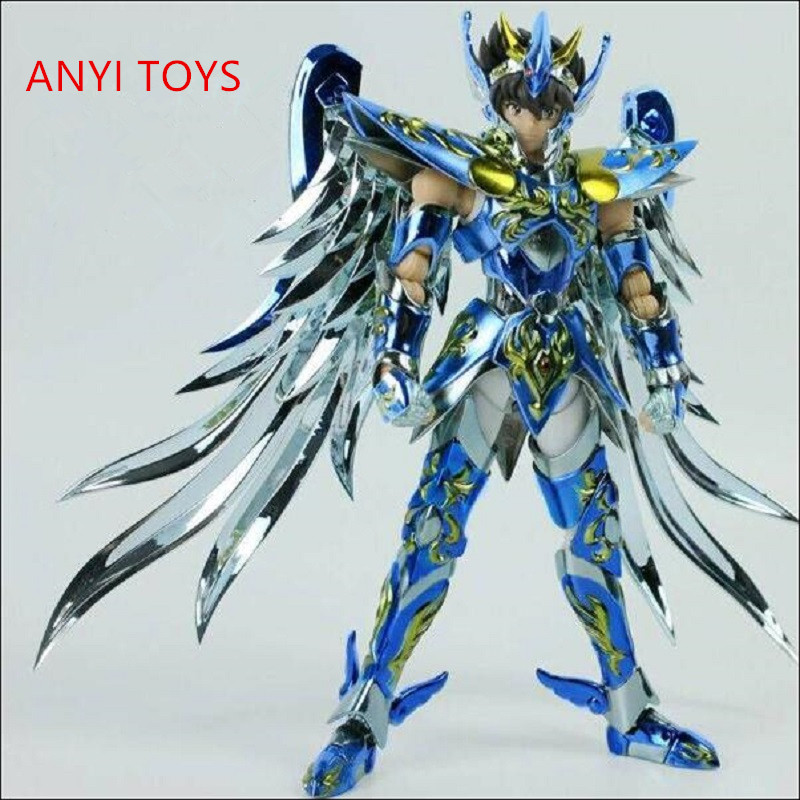 2018 in stock GT Great toys Pegasus 10th anniversary Seiya V4 god cloth EX bronze Saint Myth Cloth Action Figure metal armor myth cloth anime figure model saint seiya pegasus tenma v1 metal armor action figures for collections