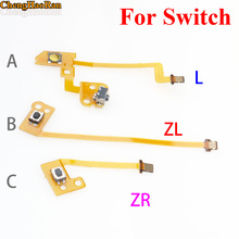 ChengHaoRan 3PCS/SET ZL ZR L Button Ribbon Flex Cable for Nintend Switch NS Joy Con Stick Caps Skin for Joy-Con Controller стоимость