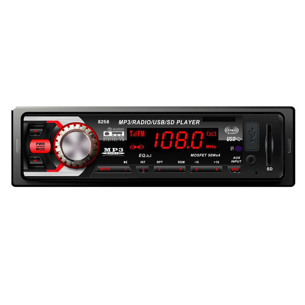 Universal Car Radio Stereo Player Bluetooth 1 0 DIN In Dash 12V AUX IN FM Stereo