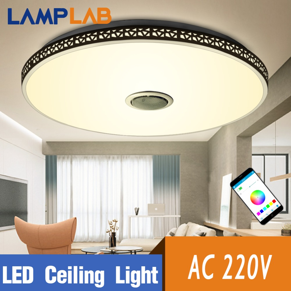 Lamplab Led Ceiling Light Modern Lamp Living Room Lighting Fixture Bedroom Kitchen Surface Mount Flush Panel Remote Control Soft And Light Back To Search Resultslights & Lighting