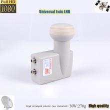 Alta calidad mundial universal lnb gemelo receptor de satélite mejor señal Digital HD universal banda KU doble lnb
