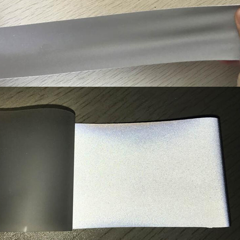 3M High quality single side reflective elastic fabric with silver color 3M High quality single side reflective elastic fabric with silver color