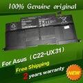 Envío libre c22-c23-ux31 batería original del ordenador portátil para asus zenbook ux31 ux31a ux31e ultrabook 7.4 v 6840 mah 50wh