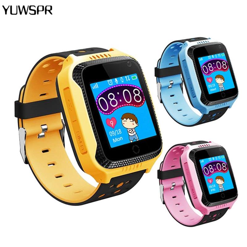 Reloj rastreador GPS para niños relojes de pantalla táctil para bebés reloj inteligente GPS SOS posición linterna Cámara Q528 Y21 reloj