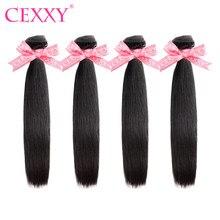CEXXY 4 demetleri insan saç demetleri brezilyalı saç örgü demetleri düz bakire saç doğal renk uzun saç ücretsiz kargo