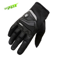 BATFOX Reflective Winter Men's Full Finger Cycling Gloves Gel Bike Gloves MTB Road Motorcycle Sports Windproof Bicycle Gloves