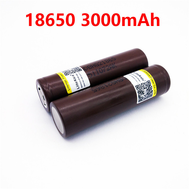 2pcs/lot LiitoKala HG2 18650 18650 3000mah electronic cigarette Rechargeable batteries power high discharge,30A large current