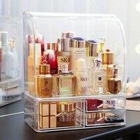 Moustache handles large bottles makeup essential oil makeup storage drawer box clear makeup drawers cosmetics storage box C5062