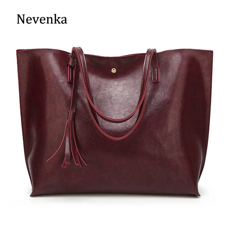 be8a61ab724 Nevenka Women Large Totes Leather Handbags Female Vintage Tote Bag Ladies  Big Shopping Bags Ladies Hand Bags for Women 2018