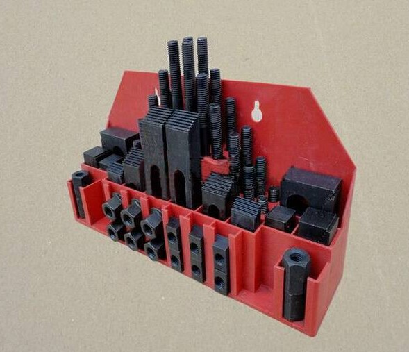 Fräsmaschine Spann Set 58 stücke Mühle Clamp Kit Umge M12 Universal Leuchte Set Druck Platte