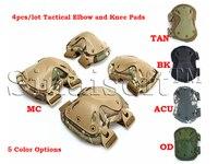 4 adet/takım Askeri Taktik Extreme Spor Güvenlik BMX SWAT X-tipi Koruyucu Gears Için Dirsek Desteği Diz Pedleri CS açık Donatmak