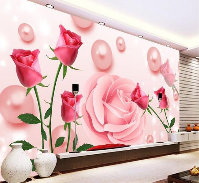 3d Wallpaper Custom Mural Non Woven Wall Stickers Sweet