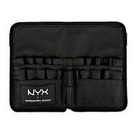 Black Two Arrays Makeup Brush Holder Professional PVC Apron Bag Artist Belt Strap Protable Make Up
