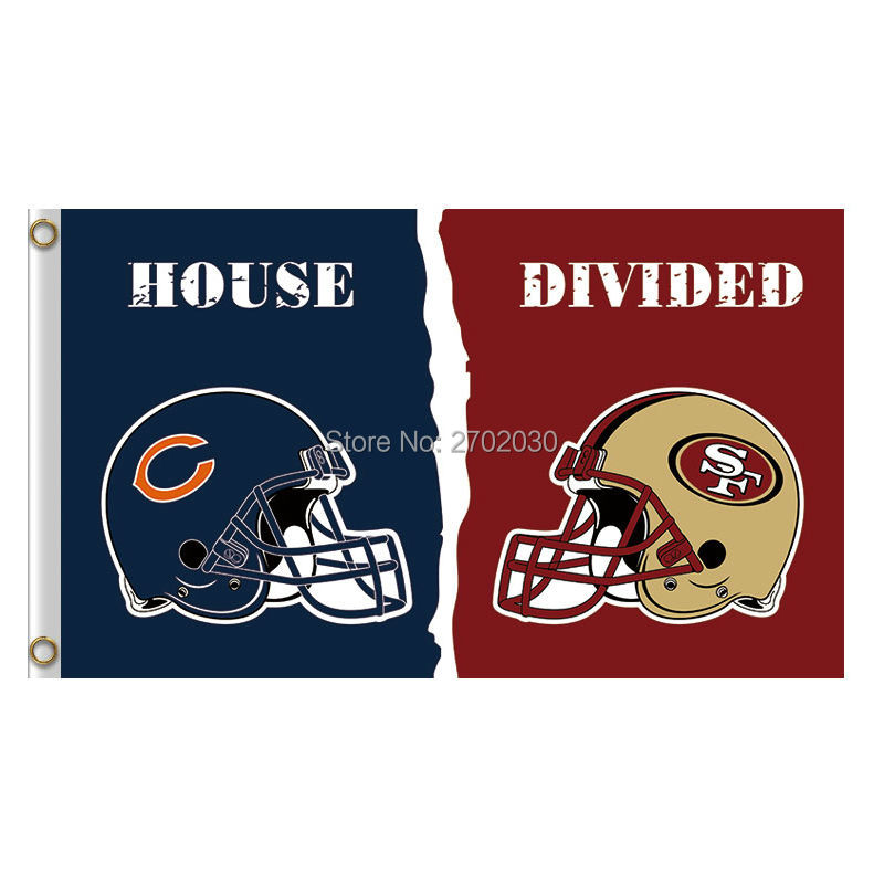 Helmet Chicago Bears Flag Vs San Francisco 49ers Banners Football Team Flags 3x5 Ft Supe ...